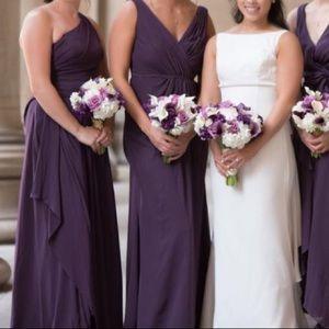 Plum bridesmaid dress